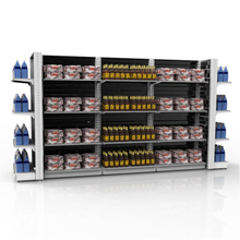 Economic Center Communal Back Panel Supermarket Shelf