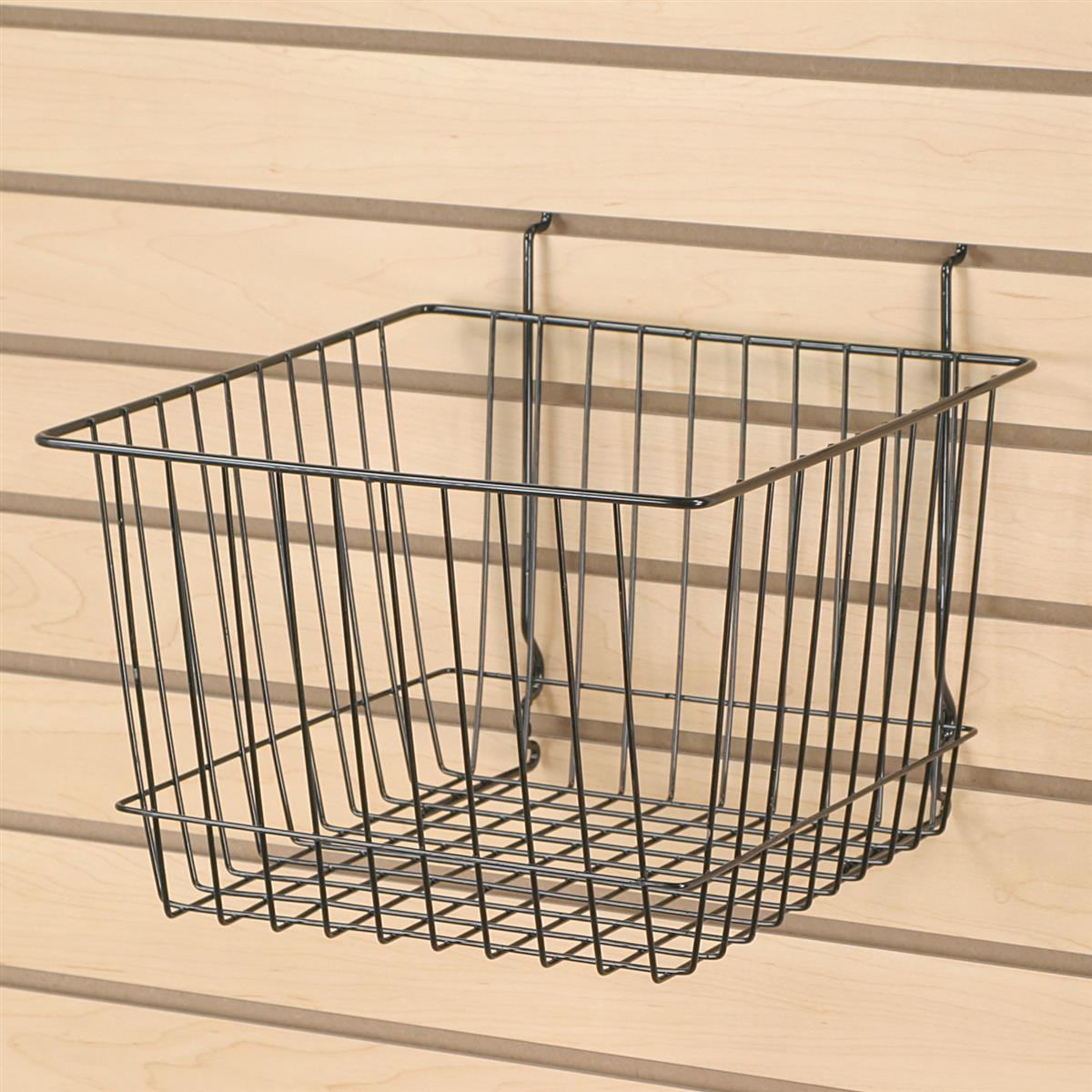 Wire Baskets for Slatwall or Gridwall Holders for Bulk Displays
