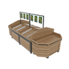 Fresh Area Island Wood Fruit And Vegetable Display Shelf