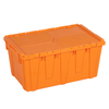 Plastic Stackable Crate Attached Lid Container NLB-13