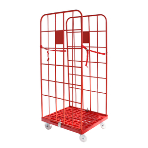 Roll Cage Trolley with Plastic Base