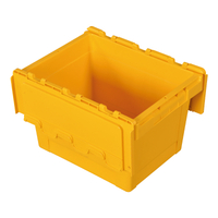 Plastic Stackable Crate Attached Lid Container NLB-1