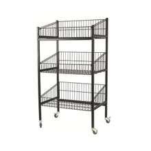 3 Layer Moving Wire Shelving Display