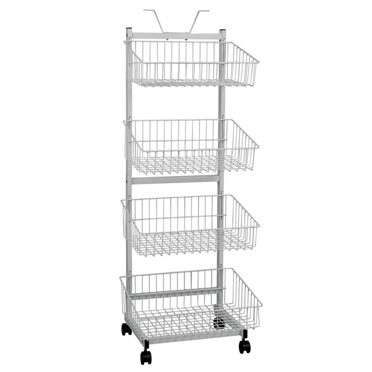 4 Basket mobile display stand