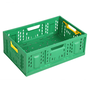Folding Vented Plastic Crate