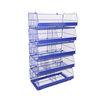 5 Basket Stackable Movable Wire Dump Bins