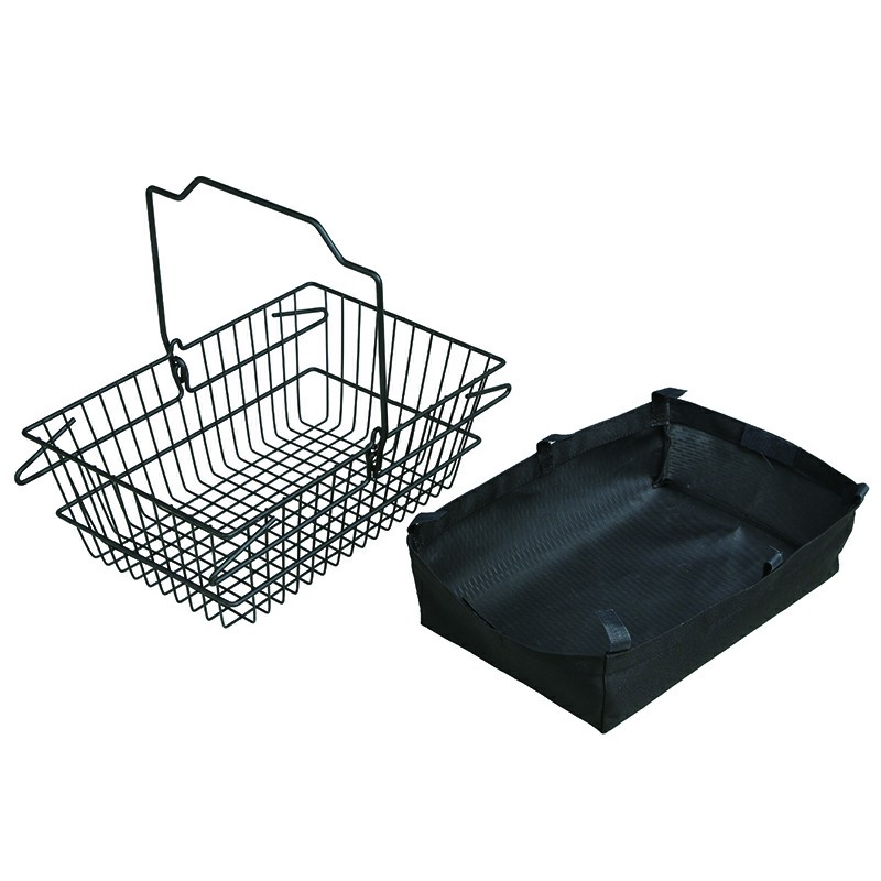 Wire Shopping Basket with clothes