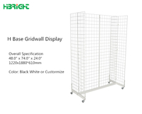 H base Gridwall Display Stand