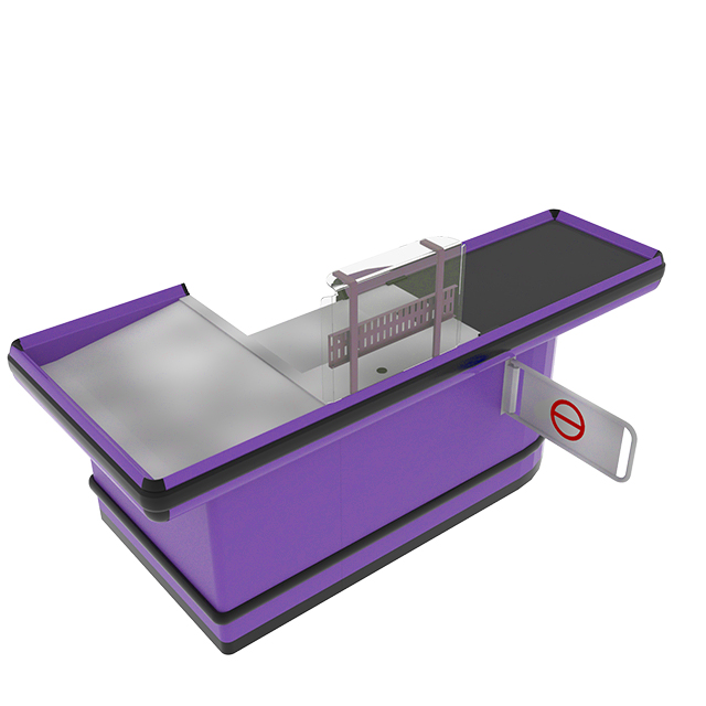 Checkout Counter with Conveyor Belt And Platform