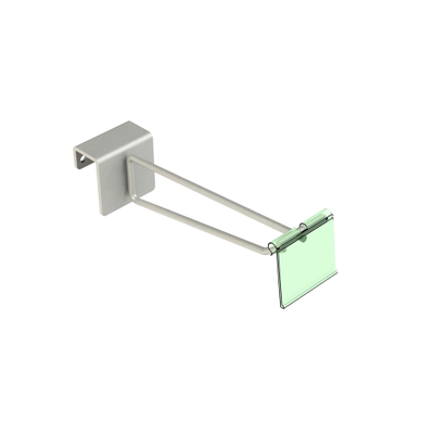 Rectangular Rear Support Bar Hook with Price Tag
