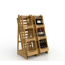 Wooden Rack for Wine Display