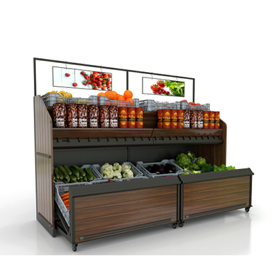 Fruit And Vegetable Display Wall Unit with Drawer Storage Space