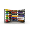 Curved Supermarket Shelf for Corner