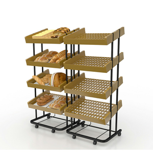 Wooden Multilayer Bread Display Shelf