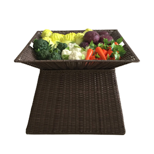 Plastic Rattan Display Stand