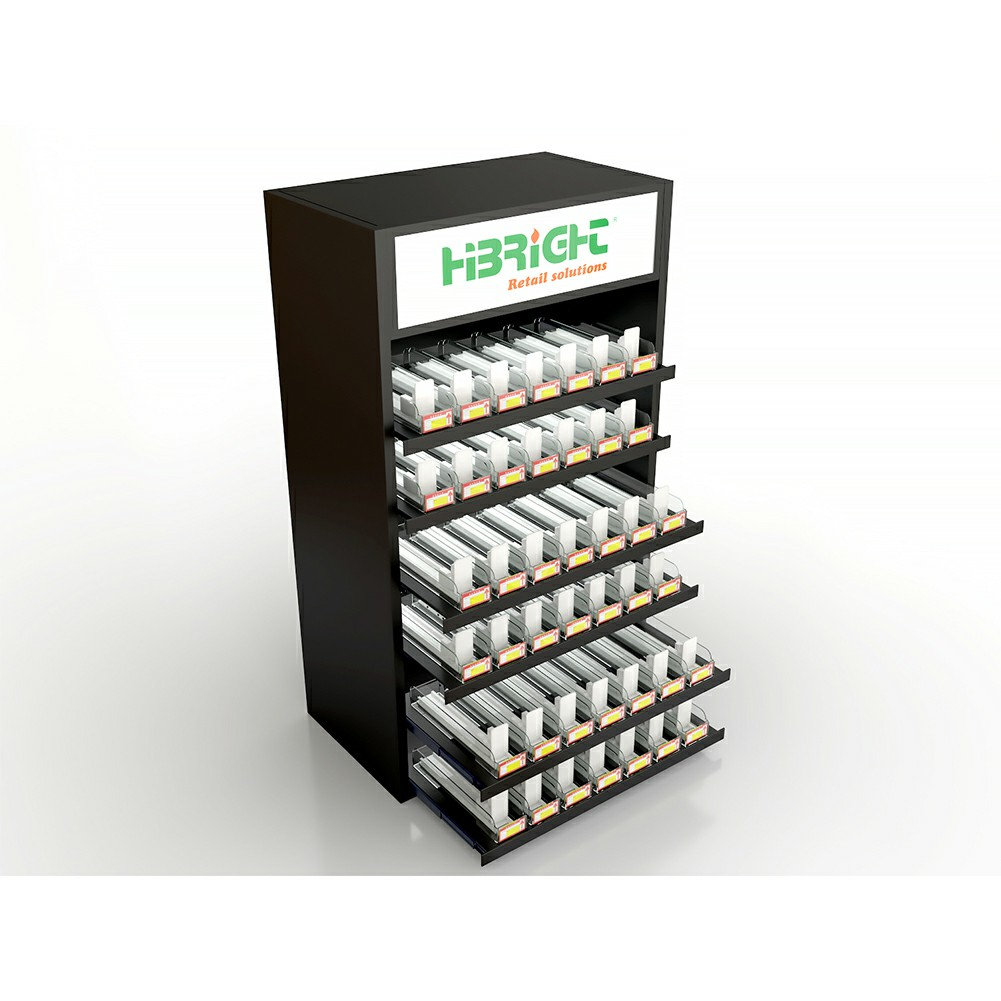 Cigarette Display Shelf with Pusher